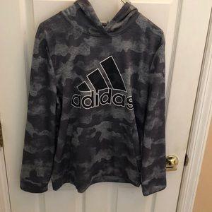 Adidas Boys Camo Hoodie Sz Boys 18-20 XL